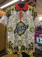 t-shirt imprimé d'anime achat en gros de-Hommes Marque Medusa Polos Printemps De Luxe Italie Italie T-Shirt Designer Polos High Street Impression De Broderie Vêtements chemise