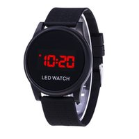 Wholesale electronic sunglasses resale online - Ultra thin LED Touch touch Sunglasses Sports Leisure Student Couple Electronic Watch