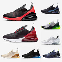 Wholesale breathable mesh low shoes resale online - 270 Bred Platinum Tint Men women Running shoes Triple Black white University Red Tiger olive Blue Void Sports Mens Trainers Zapatos Sneakers