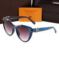 blaues objektiv für gläser großhandel-Blue Buffalo Horn Brille Herren Damen Sonnenbrille Für Markendesigner Randlos Schwarz Klare Linse Luxus Gold Metallrahmen Fall Lunettes