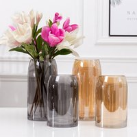 Wholesale cute vases for sale - Group buy Cute Mini Nordic Simplicity Style Glass Vases Creative Home Decorative Vase Decoration Home Porch Adorn Vases Tabletop Vase