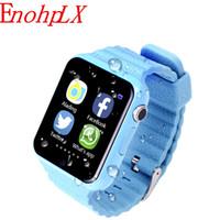 pantalla táctil gps tracker al por mayor-EnohpLX Kids Smart Watch V7K GPS Cámara de pantalla táctil Dispositivo de localización SOS Rastreador de pulsera Reloj infantil seguro para niños PK Q90