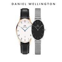 женский стальной ленточный конвейер оптовых-Оптовая продажа самых продаваемых высокого качества стиль Шеффилд 36 мм синие руки календарь кожаные мужские часы 32 мм Милан стальной пояс женские часы пара т