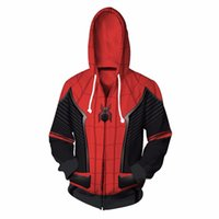 Wholesale red spiderman masks for sale - Group buy 3D Spider Man Zip Up Hoodie Sweatshirts Long Sleeve Zipper Men woman Masked Spiderman Spider Hoodie Cosplay Sweatshirt Jacket