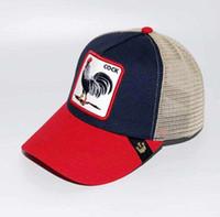 erwachsene sonnenblenden großhandel-Sommer-Fernlastfahrer-Hut mit Hysteresen und Tierstickerei für die Frauen der Erwachsen-Männer / justierbare gebogene Baseballmützen / Designer-Sonnenblende