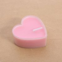 Wholesale pvc wedding candles resale online - Romantic Valentine s Day Exquisite PVC Boxed Heart shaped Jelly Aromatherapy Candles Proposal Tea Wax Wedding Birthday Decorating W95995