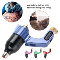 Wholesale permanent make up rotary machines resale online - RCA Interface Tattoo Machine Strong Rotary Motor Liner Shader Tattoo Device microblading permanent make up machine Colors