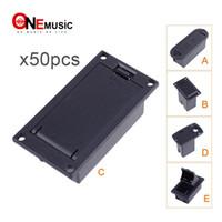 ingrosso casi di chitarra basso-50 pezzi di buona qualità 9V Battery Box / custodia / supporto per chitarra attiva / Pickup per basso
