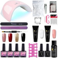 ingrosso kit per l'estensione-15ML acrilico poli set gel rapido estensione Crystal gelatina Polygel Nail Camouflage UV LED Builder Gel Nail Art Kit lampada