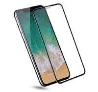 explosionsgeschützte displayschutzfolien großhandel-Für iPhone XS Max XR gehärtetes Glas 3D 9H Displayschutzfolie Ex-Schutzfolie für iPhone X 8 Plus 7 6 mit Papierpaket