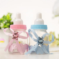 babyflaschen begünstigt großhandel-Baby Shower Taufe begünstigt Candy Flasche Aufbewahrungsbox Geschenk Flasche Candy Boxen Veranstalter Hochzeitsfeier