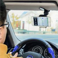 Wholesale phone car visor holder for sale - Group buy Innovative Universal Safe Sun Visor Car Phone Holder Car Navigation Holder Clip Install On Mirror Handle For Mobile Phone