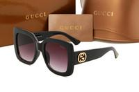 grandes marcos cuadrados de gafas al por mayor-Top de lujo para mujer para hombre gafas de sol 0083 cuadrado grande marco gafas de sol Diseñador de conducción de abejas gafas gafas envío gratis