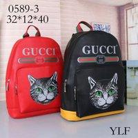 mochilas rojas para niños al por mayor-Diseñadores de la marca Damier Cobal GG gato grils Mochilas Mochila escolar de alta calidad para niños Bolsa de viaje negro rojo