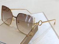 besonders gestaltet großhandel-New Luxury Designer Sunglasses 0333 Fashion Simple Big Frame Square Sonnenbrille Hohl Speziell entworfene Brillenlinse Laser uv400 Schutz