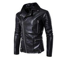 vestes personnalisées pour hommes achat en gros de-veste en cuir mens slim moto manteau en cuir hommes vestes slim vêtements à fermeture à glissière multiple vêtements de mode stade de rue personnalisé