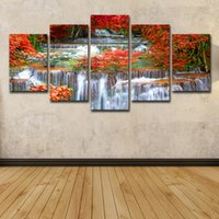 Wholesale paintings tropical seascapes resale online - 5 Piece HD Printed Tropical Sunset Paradise Group Painting Room Decor Print Poster Picture Canvas