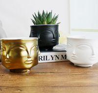 vasos de mesa chinesa venda por atacado-Padrão de rosto moderno Styler Dora Maar Musa Vaso vasos de flores plantadores Muse Noir Dora Maar saladeira / vela Stand / plantadores