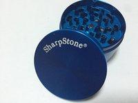 4pc ot öğütücü toptan satış-4 adet 40mm 63mm En Iyi SharpStone® herb metal değirmeni Keskin Taş Sert üst tütün Bitkisel Duman Değirmenleri