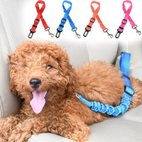 Wholesale ship safety harness resale online - Nylon Collars Harnesses Leads Dog Collar Car Safety Seat Belt dog harness vest Puppy Collar nylon Drop shipping