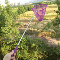 agarre mariposa al por mayor-2019 Kids Fishing Toys Telescópica Butterfly Net Extensible Insectos Catching Net Antideslizante Agarre Redes de pesca para niños Jugar Catching Bug