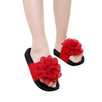 niedliche rote sandalen baby mädchen großhandel-SAGACE Kinder Kleinkind Infant Baby Mädchen Schuhe Sandalen Hausschuhe Sommer nette große rote Blume Prinzessin Mode 19Apl12