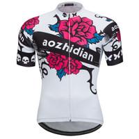 calças de biquini brancas mulheres venda por atacado-2019 ciclismo jersey rosa das mulheres camisas de ciclismo senhoras bicicleta ciclo de bicicleta curto jersey tops branco