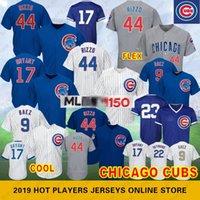 beyzbol kyle toptan satış-Chicago 44 Anthony Rizzo Yavruları # 9 Javier Baez # 12 Kyle Schwarber 17 Kris Bryant 150.Yıl Beyzbol Formaları 49 Jake 22 Jason Heyward