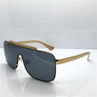 quadros de caixa de óculos venda por atacado-Óculos de sol de luxo medusa 2161 oversized metal moldura quadrada dos homens da marca designer de óculos de Ouro material banhado a lente anti-UV400 eyewear com caixa