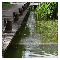 ingrosso pompe idrauliche sommergibili alimentate a energia solare-Pompe idrauliche Casa Giardino Solar Powered Risparmio energetico Pompa a immersione solare per piscine da giardino Laghetto Bird Bath
