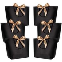 pacote de presente de saco de papel venda por atacado-10pcs Tamanho Grande Gift Box Embalagem ouro presente punho sacos de papel Kraft Papel Com Alças de partido da festa de aniversário do bebê do favor do casamento