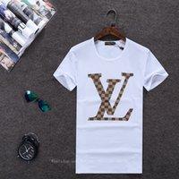 yeni desen gömlek erkek toptan satış-T-shirt Yaz Yeni Desen Öğrenci Kısa Kollu erkek Giyim Pamuk Yuvarlak Boyun Kolay Gelgit Adam T Yazık Moda Büyüt Kod Yarım