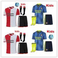 fußball trikots feyenoord großhandel-Feyenoord 19 20 Kinder Fußball Trikot 2019 2020 LARSSON V.PERSIE BERGHUIS VILHENA JORGENSEN Fußball Trikotsets