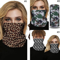 Wholesale multifunctional headwear scarf for sale - Group buy Leopard Magic Scarf Mask Cheetah Print Face Mask Digital Printing Cycling Outdoor Sports Multifunctional Headwear Magic Bandanas LJJO7912