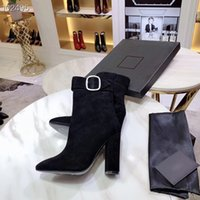 Wholesale metal tassel boots for sale - Group buy Luxury woman high heel ankle boots real leather Fashion metal button Martin boots ladies winter boots Top quality of Size