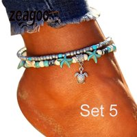 Wholesale woven anklets resale online - None Weaving Women Wax Anklet Handmade Line Casual Fashion Accessories