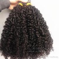extensiones de cabello de unión previa al por mayor-Peruano Extremidades para cabello con punta Kinky Curly 100 filamentos Palo previamente adherido Con punta Keratina Fusion Extensión para cabello humano