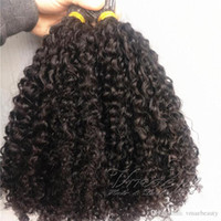 Wholesale keratin human hair extensions tip for sale - Group buy Peruvian Mongulian I Tip Hair Extensions Afro Kinky Curly Strands Pre Bonded Stick I tip Keratin Fusion Remy Virgin Human Hair Extension