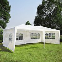 Wholesale gazebo tents online - 10 x20 White Outdoor Gazebo Canopy Wedding Party Tent Removable Walls UPGRADE