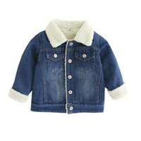 Wholesale denim jackets for kids resale online - Baby Boys Denim Jacket Spring Autumn Jackets For Girls Coat Kids Outerwear Coats Warm Boys Clothes Children Jacket Year