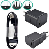 Wholesale adapter for galaxy tab online – 2A AC US EU UK Wall Travel Charger Power Adapter Plug For Samsung galaxy Tab Note P1000 P7500 P5200 Usb Cable