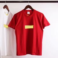 genç erkekler tişört toptan satış-18FW Bling Kutusu Logo Tee Moda Sokak Kaykay Elmas Baskı T-shirt Erkek Kadın Nefes Genç Hip Hop Kısa Kollu HFTTTX039