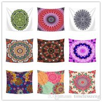 Wholesale beach style home decor resale online - Bohemian Style Wall Hanging Tapestry Mandala Design CM Home Decor Beach Towel Picnic Blanket Tablecloth Bed Sheet Party Backdrop