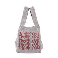 ingrosso maglia bling-Grazie paillettes Borse da donna Borse piccole Tote Crystal Bling bling Fashion Lady Bucket Borse a mano Vest Girls Glitter Purses Brand