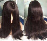 cabelo humano peruca kosher venda por atacado-Grau 10A Cabelo Virgem Brasileiro De Seda 4x4 Top De Seda Perucas Judaicas Melhor Sheitels Melhor Cabelo Virgem Europeu Kosher Perucas Frete Grátis