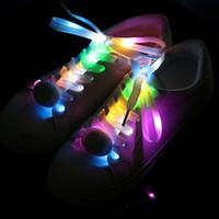 disco çubuğu toptan satış-LED Ayakabı Ayakkabı Danteller Flaş Light Up Glow Stick Askı Disco Dance Party