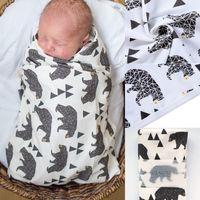 bebek havlu satışı toptan satış-Sıcak Satış Bebek Bebek Uyku Yumuşak Battaniye Kapüşonlu Bornoz Banyo Havlu Pamuk Wrap Robe