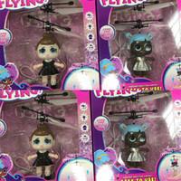 fliegende spielzeuge großhandel-RC Flying LOL Puppe Spielzeug Luminous Drone Kid Elektronische Infrarot Induktion Flugzeug Fernbedienung Spielzeug LED-Licht Mini Hubschrauber Spielzeug