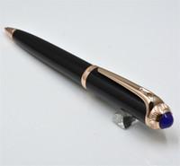 ingrosso car top black-Auto di alta qualità nero / argento penna a sfera cancelleria per ufficio forniture moda scrivere penne refill regalo (scatola no)