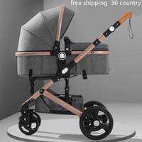 ver latas al por mayor-Belecoo Lightweight High View baby 2 en 1 cochecito se puede sentar puede mentir light bidireccional buggy kinderwagen